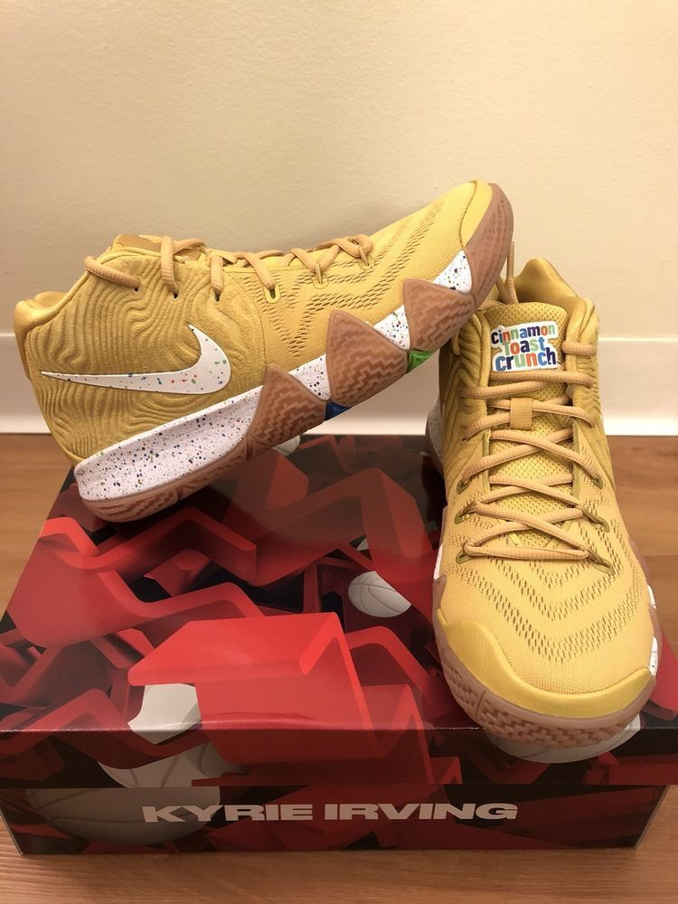 in stock b86e7 a1d2b Nike Kyrie 4 Cinnamon Toast Crunch Gold Limited Cereal Pack ...