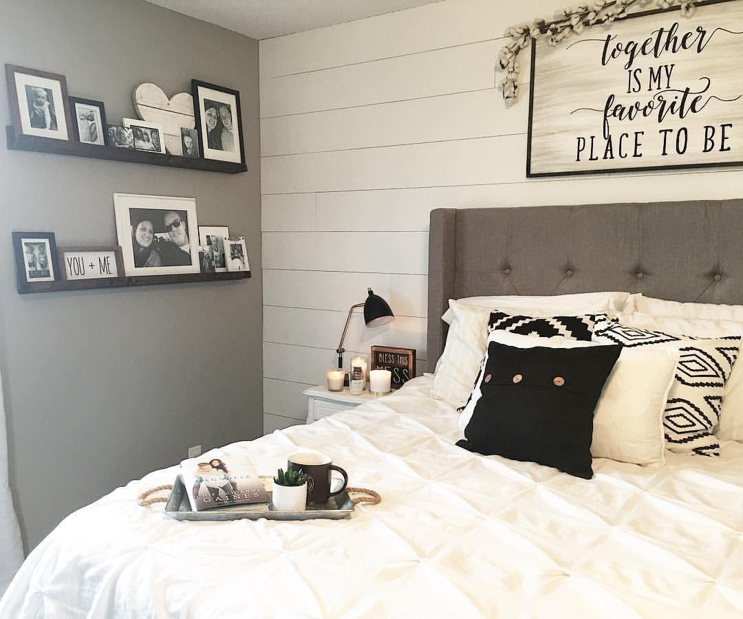 Master Bedroom Decor, Black and White Decor, Modern ...