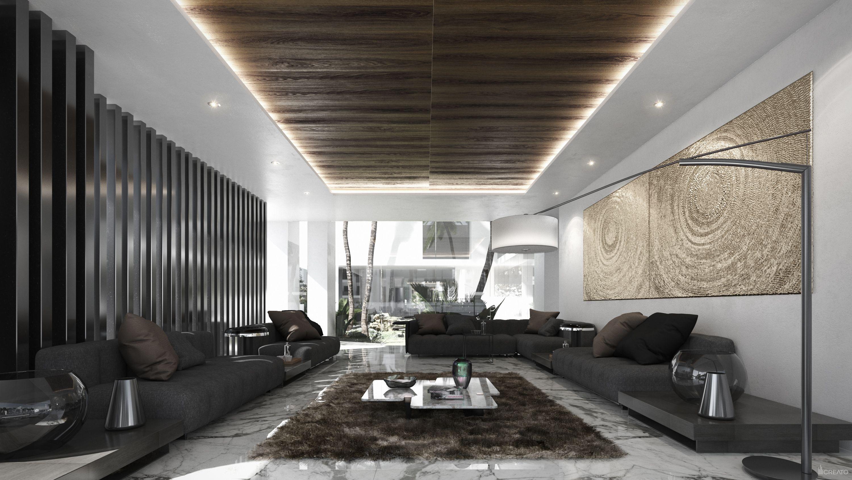 Doha villa qatar architecture design contemporary modern creato project architect villa luxury facade interior familyroom interiordesign