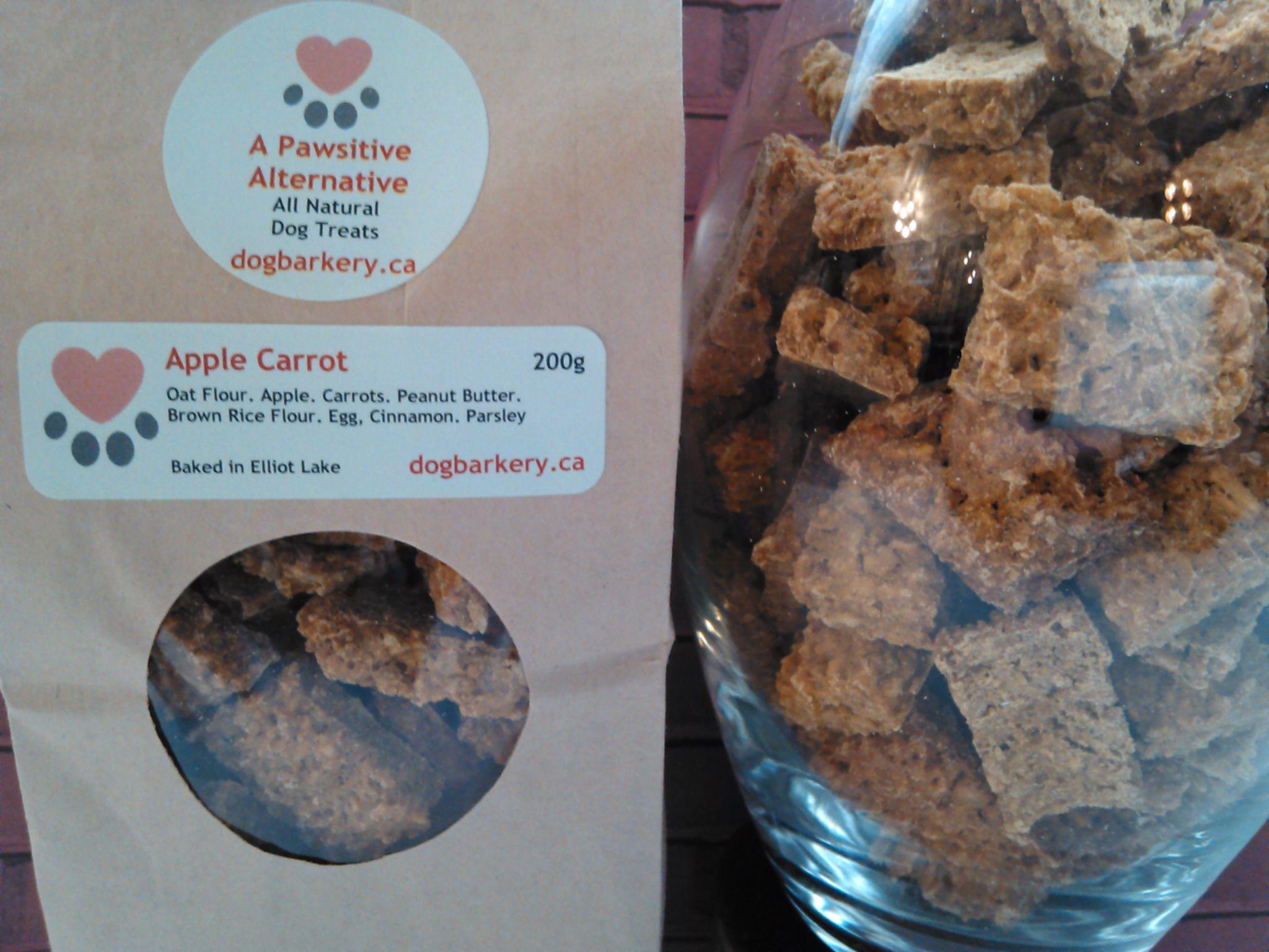 Apple carrot dog treat oat flour apples carrots peanut