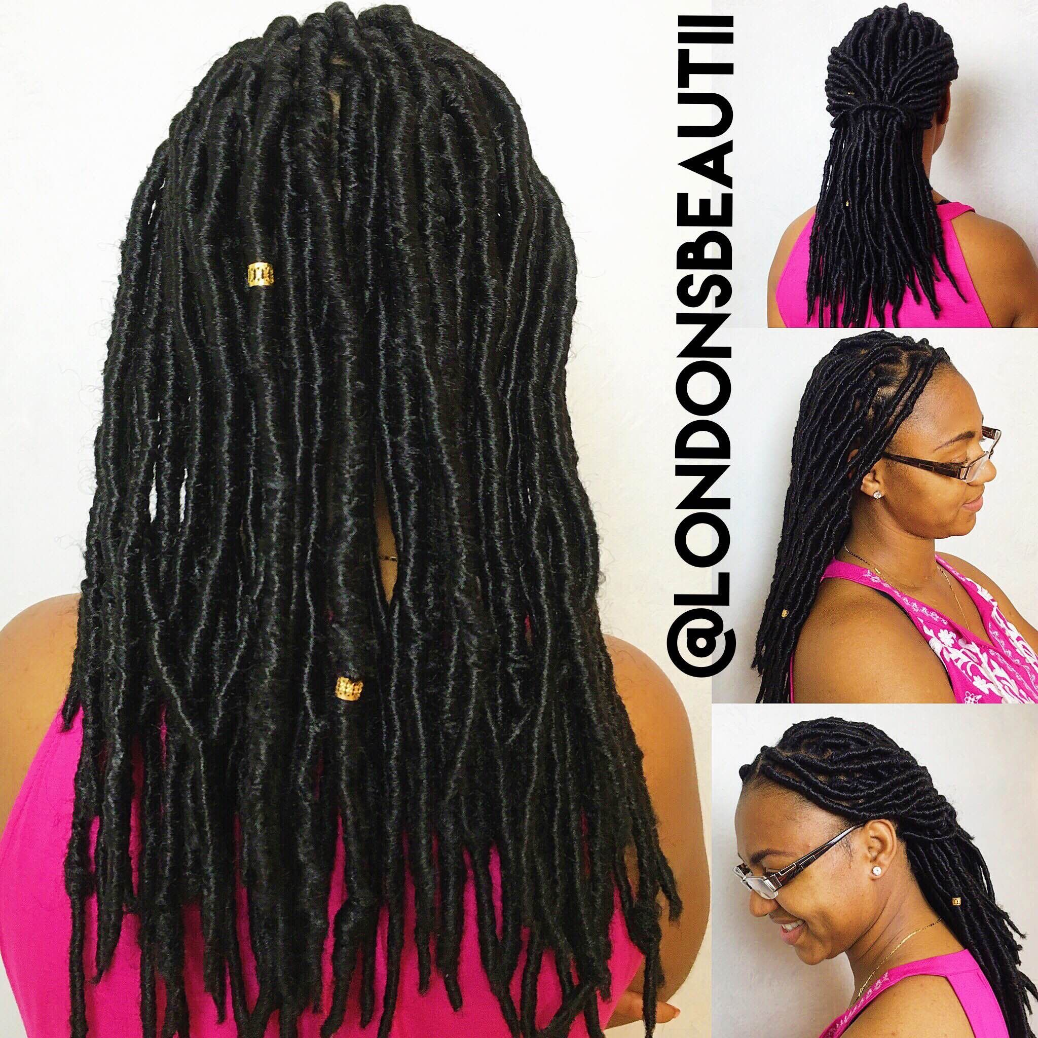 Faux Locs done by London s Beautii in Bowie Maryland