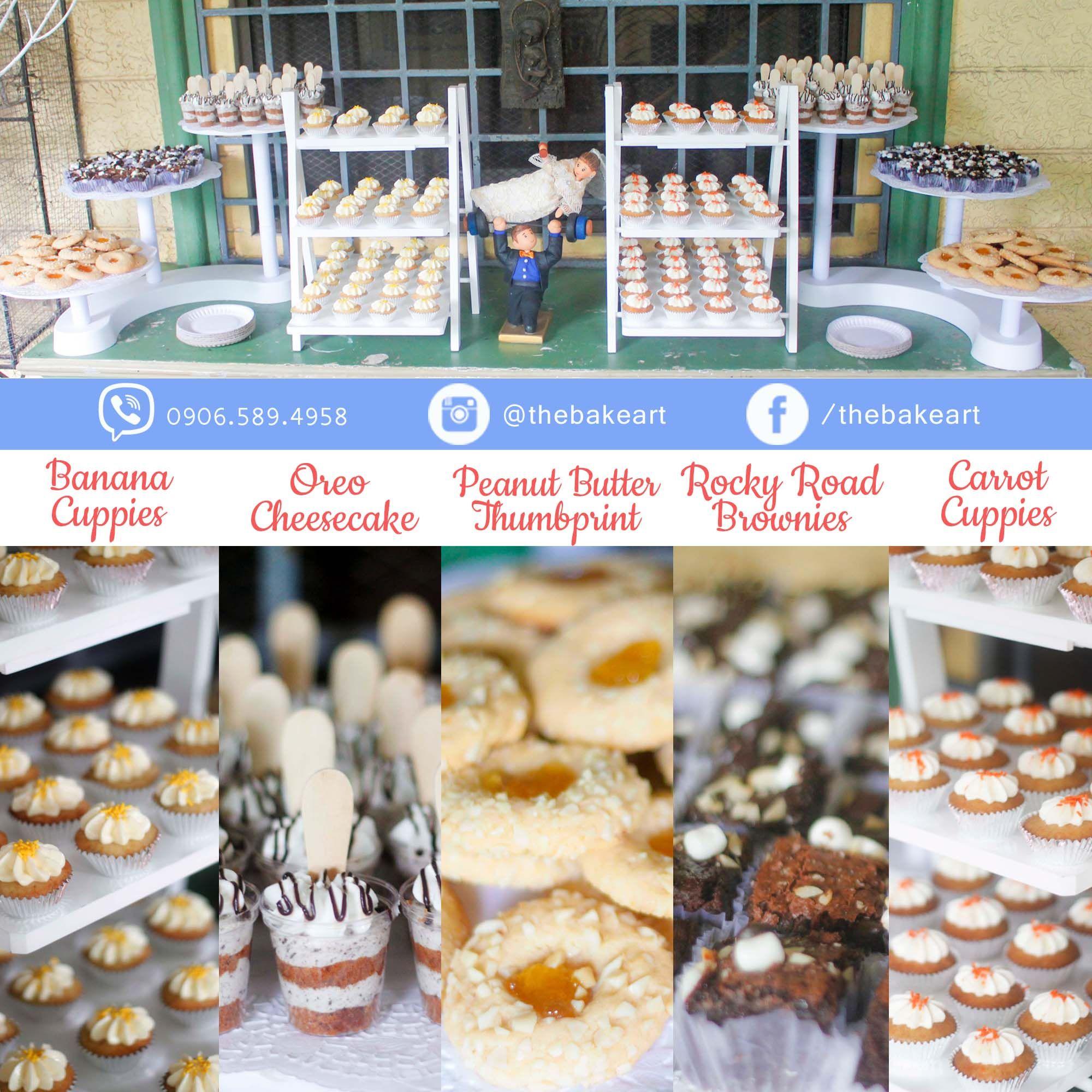 Mini Dessert Buffet: Wedding Dessert Buffet: Mini Cupcakes, Nutella Cheesecake