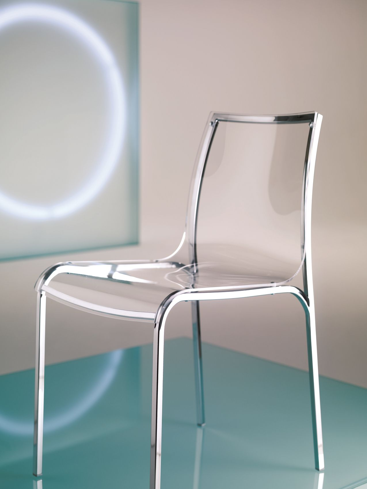 Cadeira de vidro acrlico YOGA by Bontempi Casa design Daniele Molteni