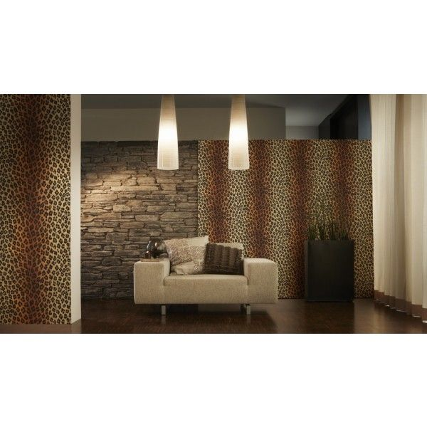 Papier peint à motifs peau de léopard d\'AS Création. #papierpeint ...