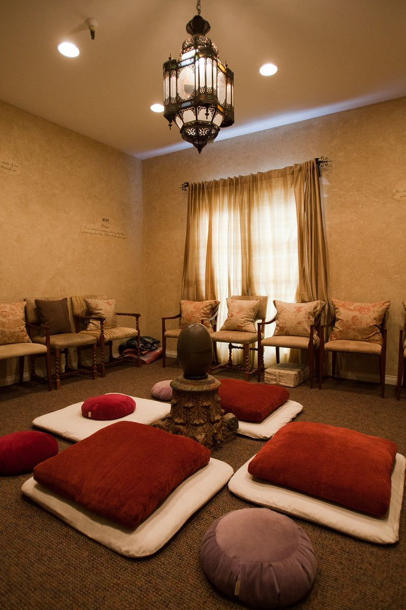 meditation room at the chopra center, located in the la costa resort