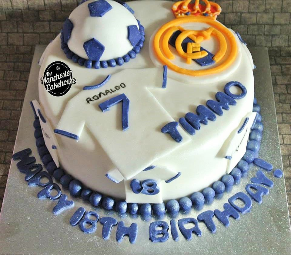 real madrid cake real madrid football cake from the manchester cakehouse 6971