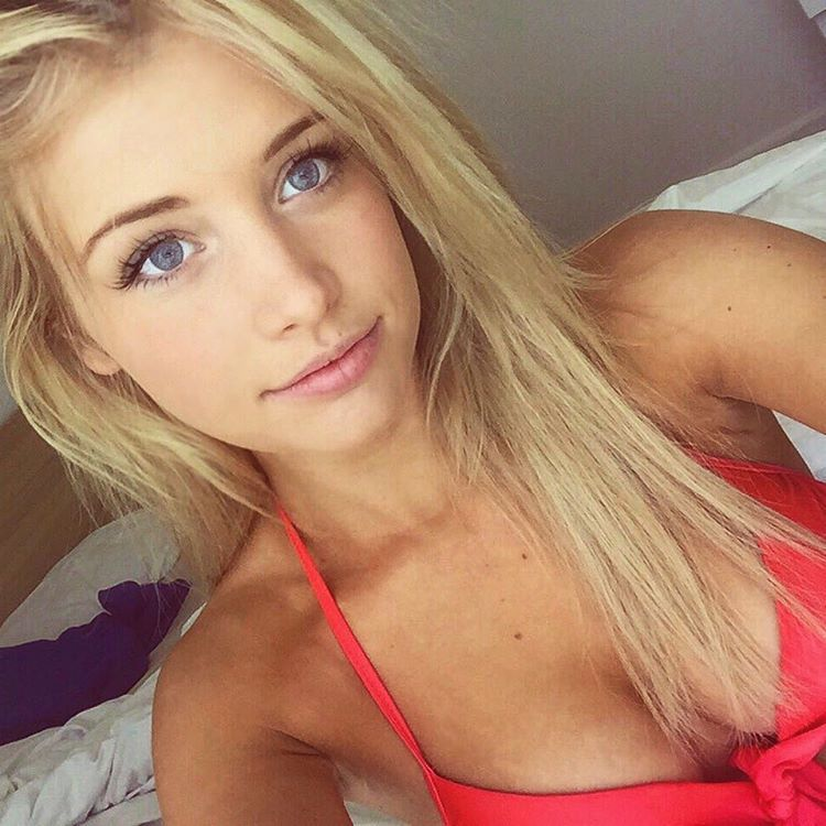 Young hot blonde girl