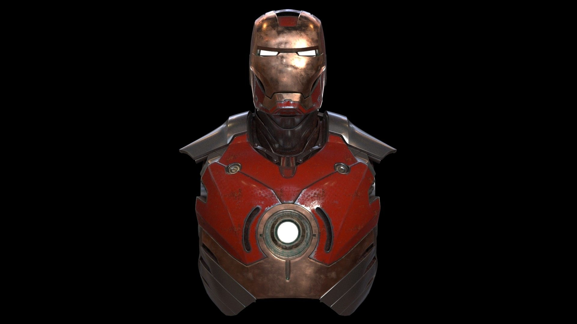 Iron Man Helmet 3ds Max