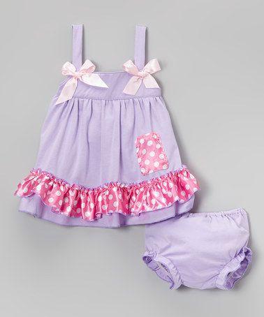 wenchoice Purple Flower Bubble Romper Girls S