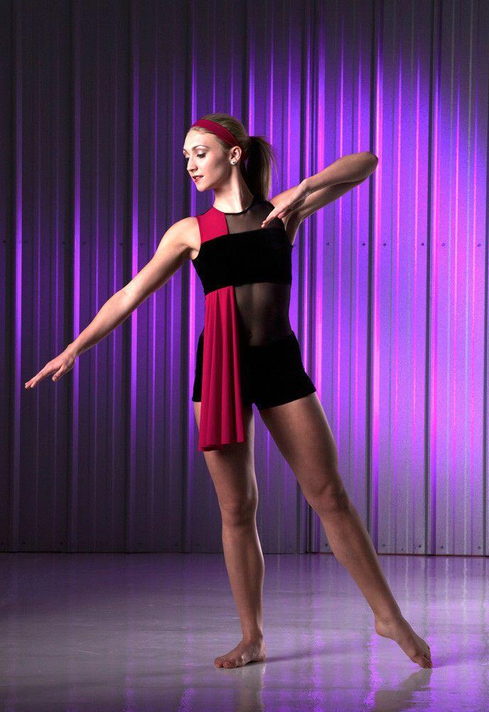 SORT OF Boy Shorts Unitard w/Drape Ballet Dance Costume Adult ...