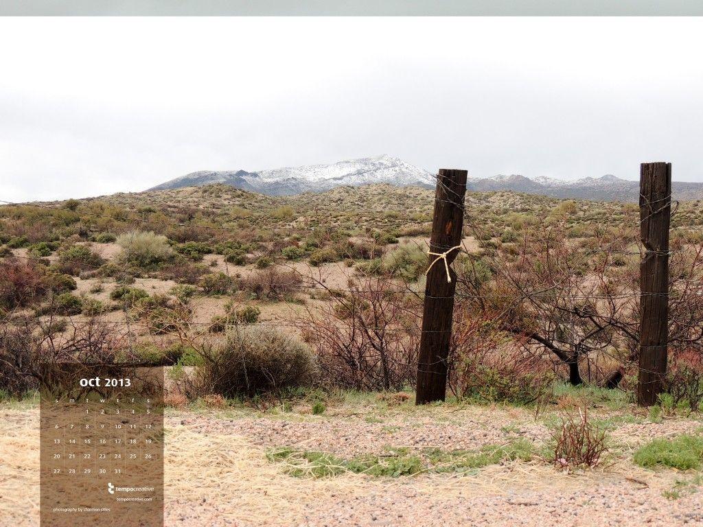 Snow Caps in Carefree, AZ. #October desktop #calendar, free download. submit your photos to social@tempocreative.com