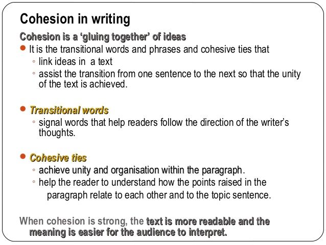 coherence and cohesion in writing pdf