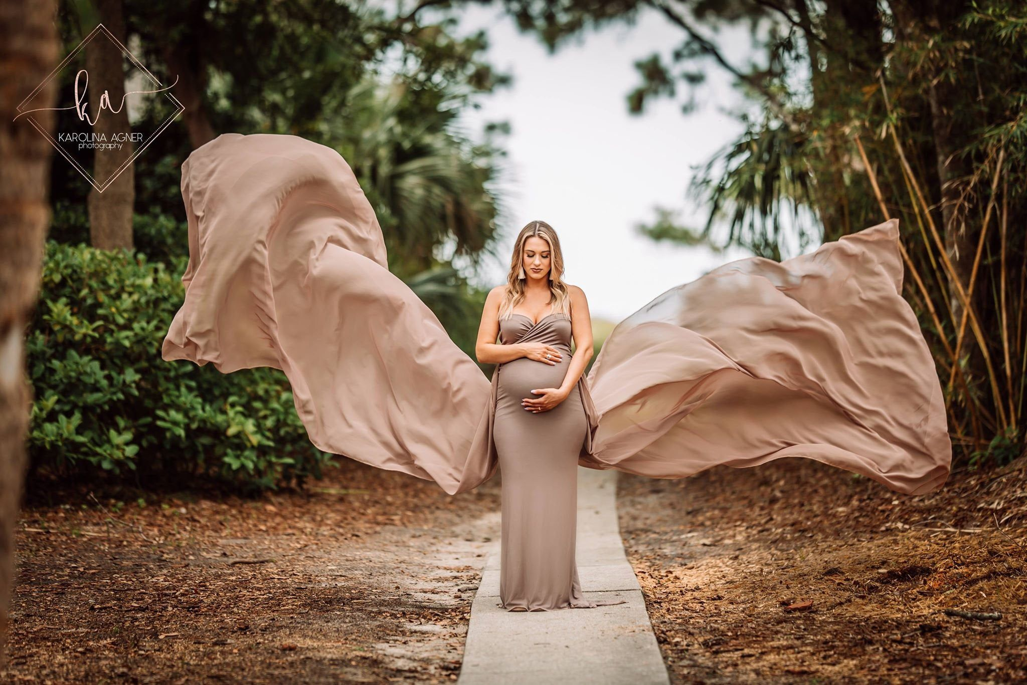 Photo of Maternity Dress for photo Shoot | Slim Fit Maternity Gown | Sleeveless Dress | Tossing Train|Sweetheart|Baby Shower Dress|Maternity Wedding