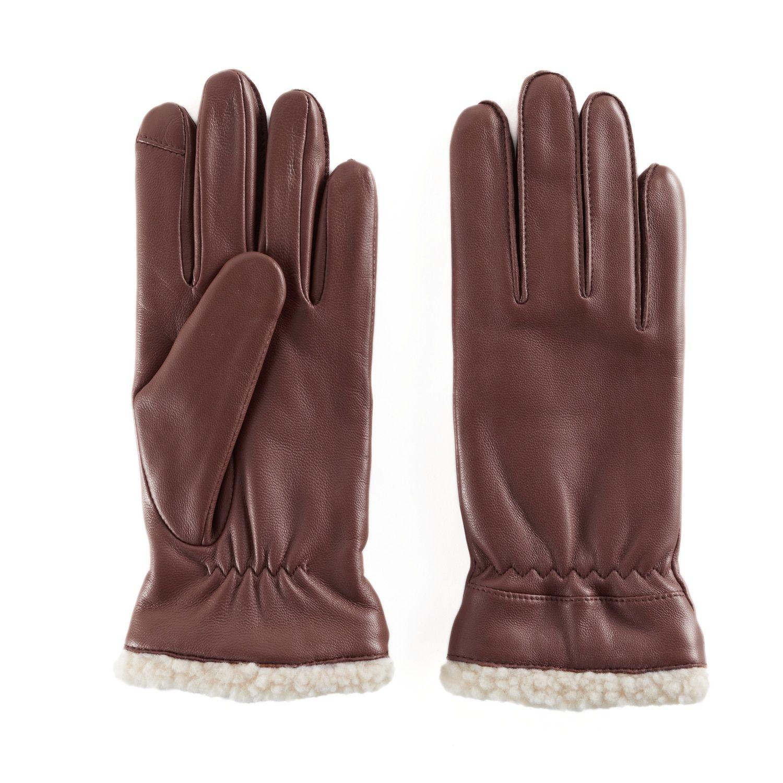 Women's Apt. 9? Faux Shearling Lined Leather Tech Gloves
