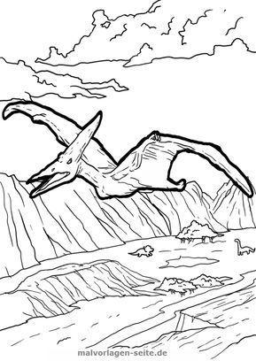 malvorlage pteranodon | malvorlagen, ausmalbilder, malvorlagen tiere