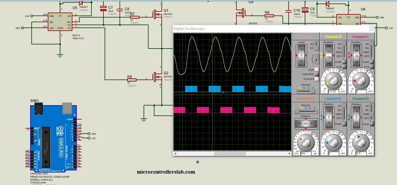 Single Phase Pure Sine Wave Inverter Using Arduino Ckt Diagram Of Circuit Projects