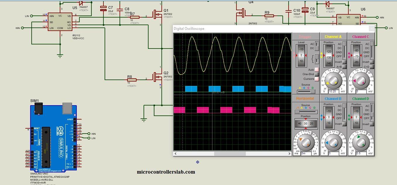 Single Phase Inverter Circuit Diagram