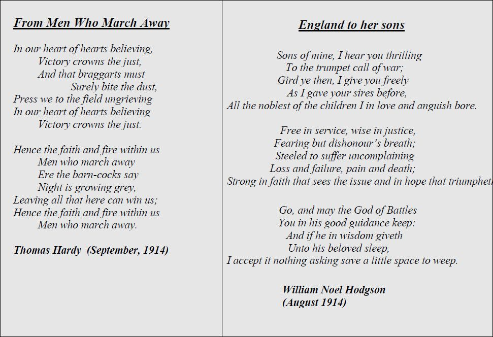 War Poetry First World War World War War Battle Of The