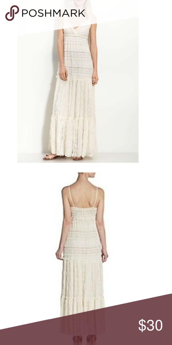 a4f454156e37 Willow & Clay Boho Lace Maxi Dress Cream colored lace maxi dress Size  Medium Willow & Clay Dresses Maxi