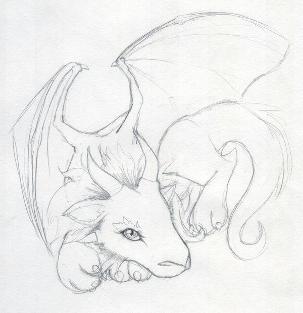 drawing of a dragon