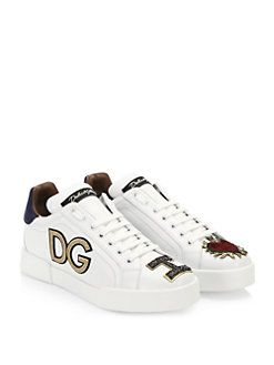 70b4c0ee7427 Dolce   Gabbana - Embroidered Detail Sneakers