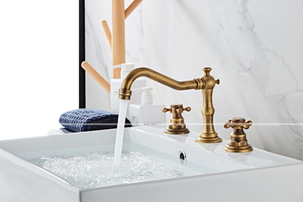 Victoria Widespread Antique Copper Widespread Two Handles Three Holesbath Taps Bathroom Sink Faucet 2020 Us 70 19 Sink Faucets Bathroom Sink Faucets Sink