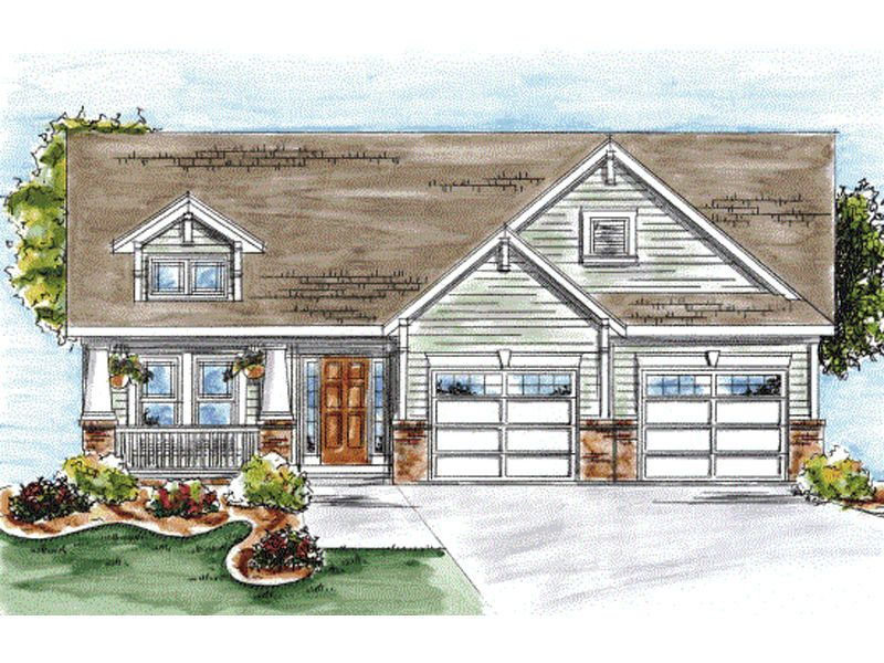 Mt summit craftsman ranch home house plans pinterest for Www houseplansandmore com