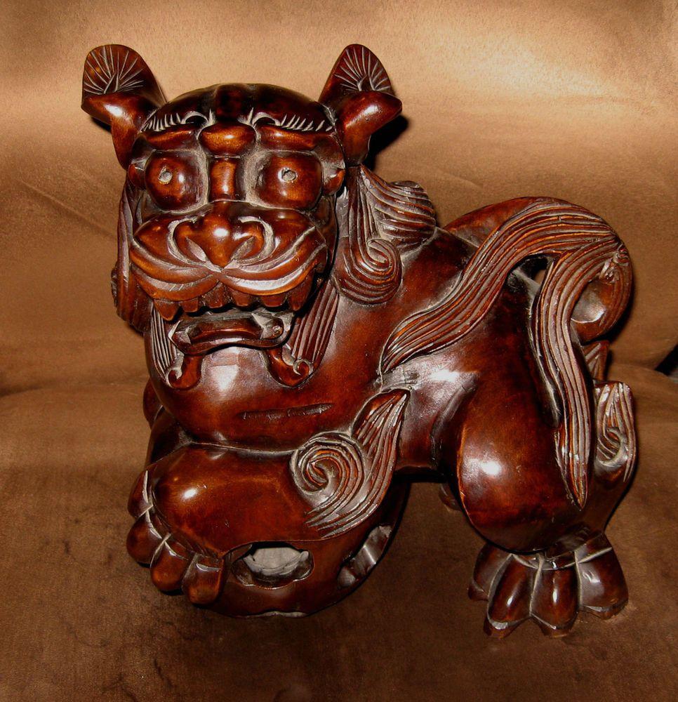 Vintage ceramic foo dog circa 1950s used excellent condition