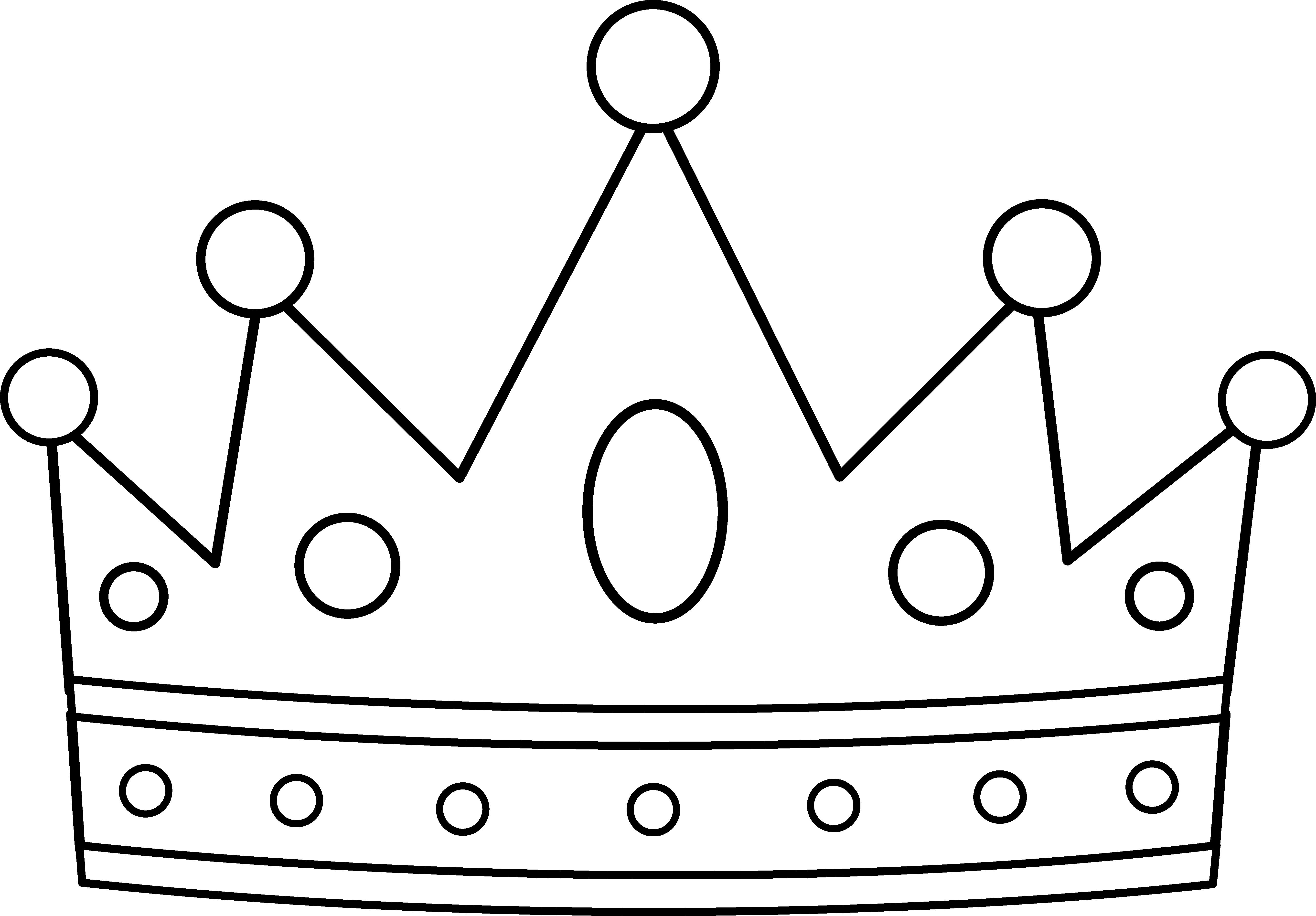 royal crown line art  crown template crown printable