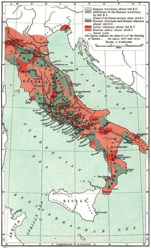 Ancient History Maps The Growth of Roman Power in Italy source