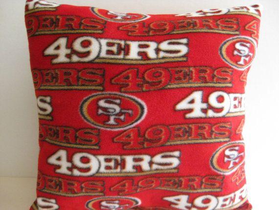 49ERS Football Team Throw Pillow San Francisco by DSHANDMADECRAFTS, $20.00