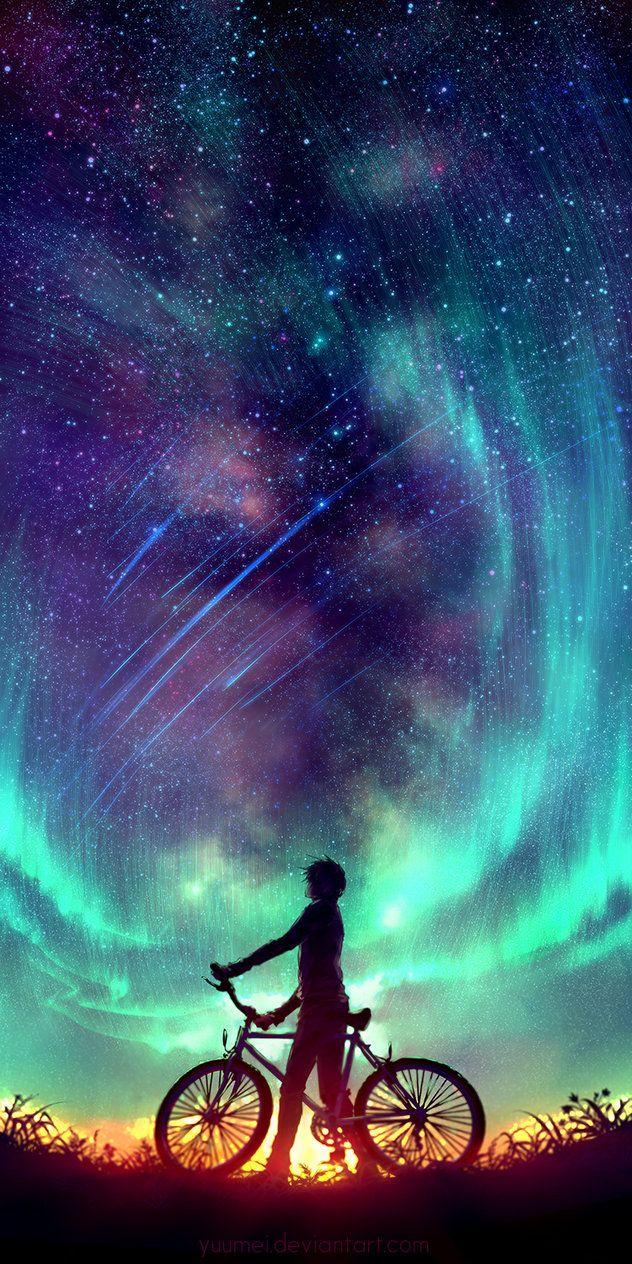 Said the Stars by yuumei on DeviantArt Cenário anime