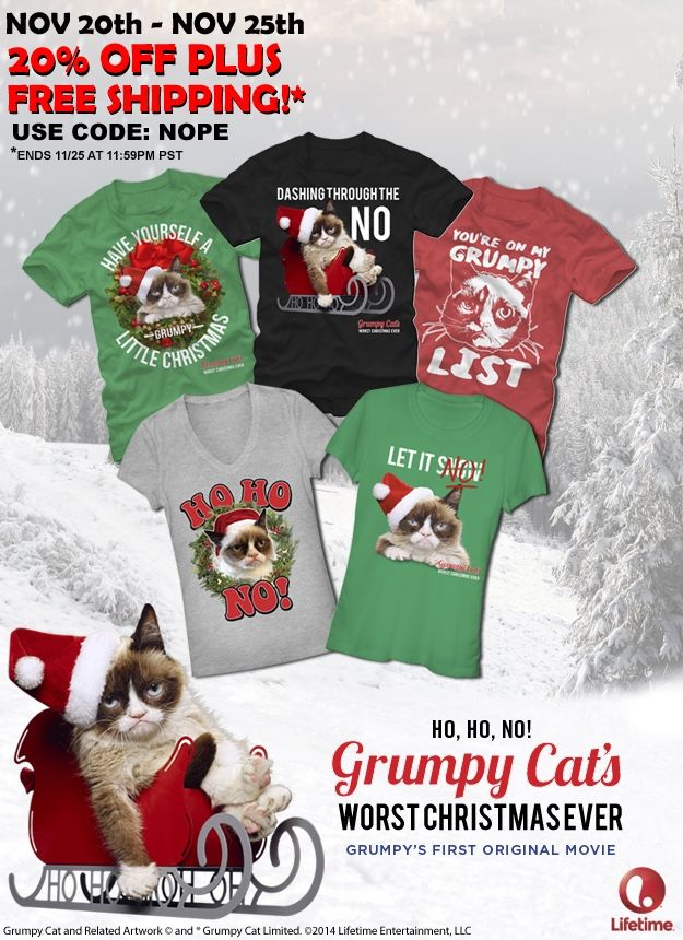 The Official Grumpy Cat™ Tumblr : Spread holiday jeer with Grumpy ...