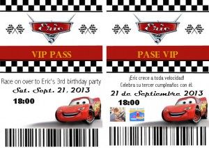 Cars Party Vip Pit Pass Invitations With Photoshop Template Oh