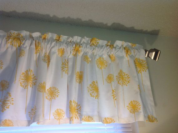 Lovely Blue Yellow Valance