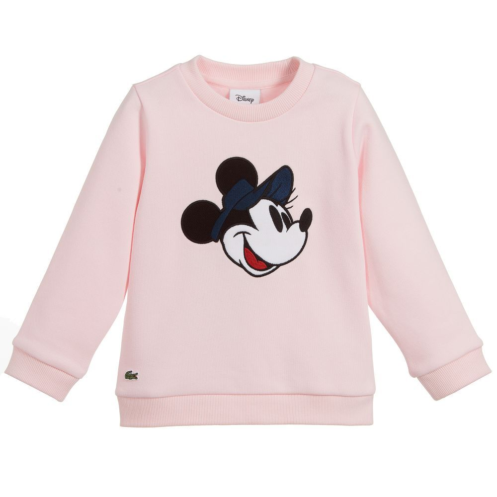 Disney Girls Minnie Mouse Floral All Over Print French Terry Sweatshirt