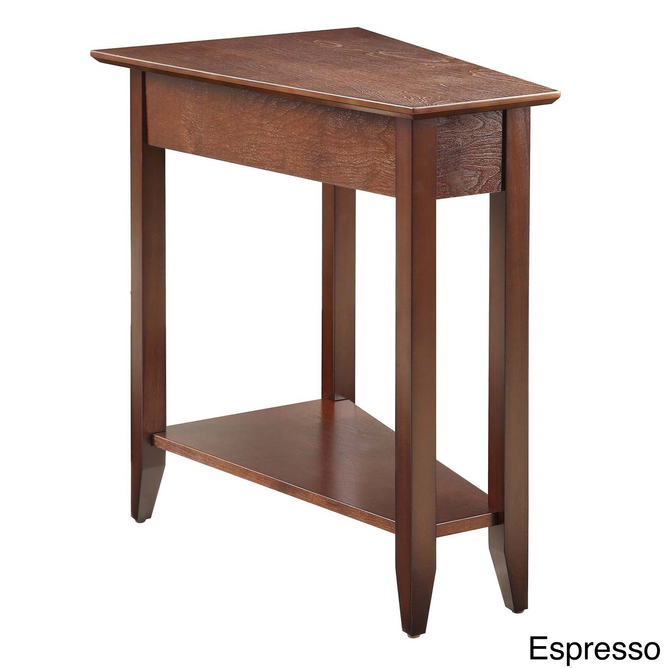 Convenience Concepts American Heritage Wedge End Table (Black)