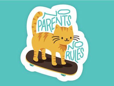 No Parents, No Rules   Parenting, Graphic design