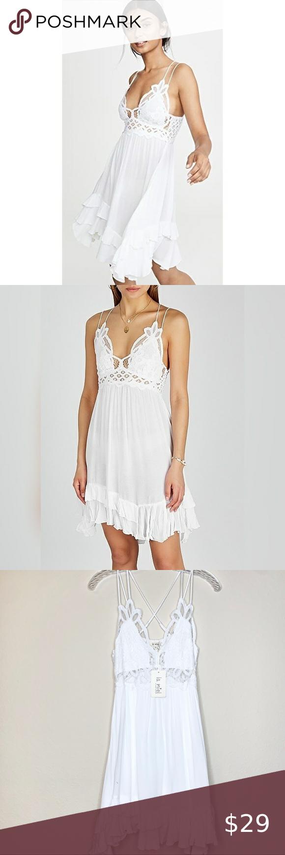 4 For 25 La Miel White Lace Slip Dress Lace Slip Dress Slip Dress Lace Slip [ 1740 x 580 Pixel ]