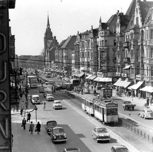 Die SchlossStrasse in den 50ern BERLIN MON AMOUR