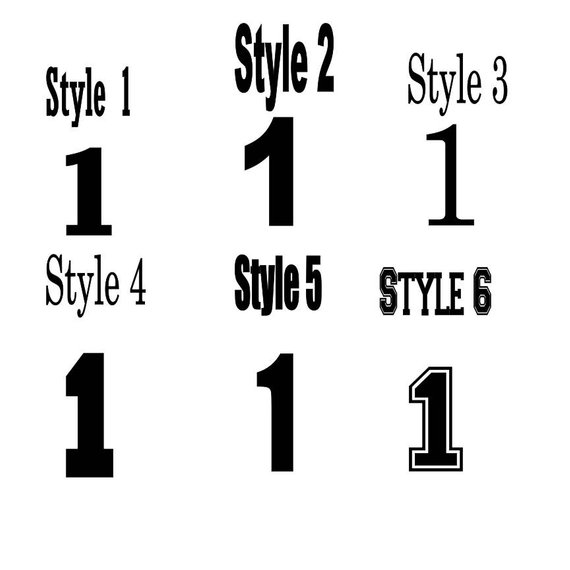 1 Inch Nonglitter Vinyl Single Number Decal Iron On Number Decal Nonglitter Vinyl Hair Bow Decal Hair Bows Lettering Numbers