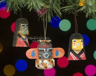 3 pc  Native American Ornament Set -Navajo Kachina (o23