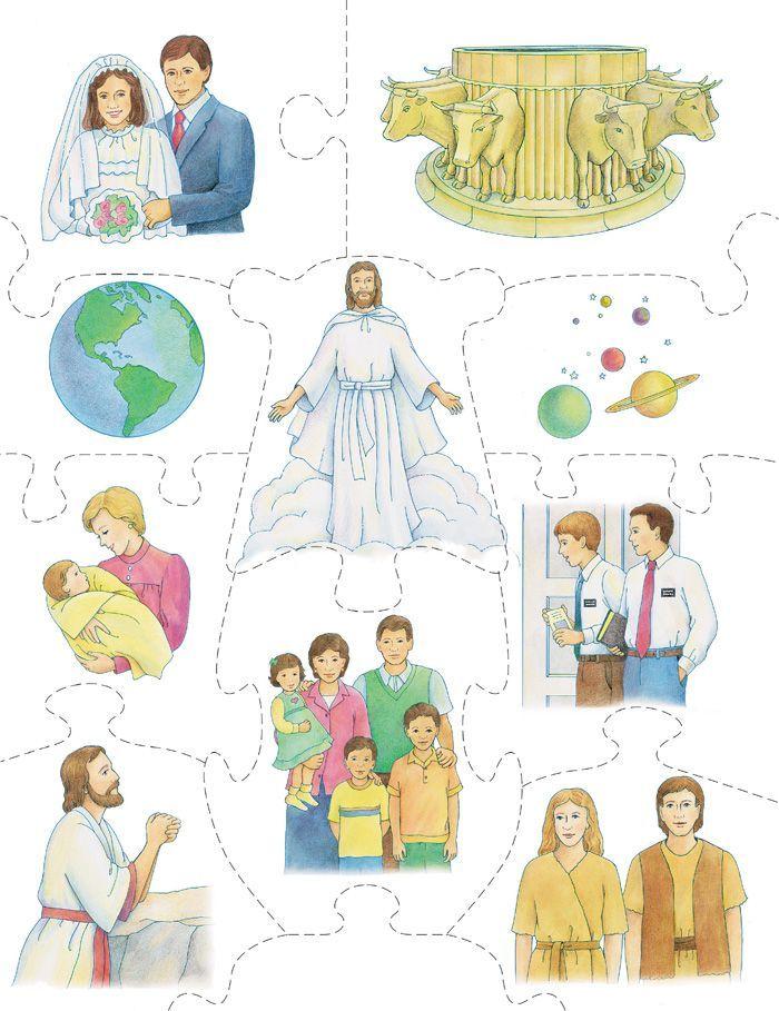 Rompecabezas Plan de Salvación | lds ideas | LDS, Lds primary y ...