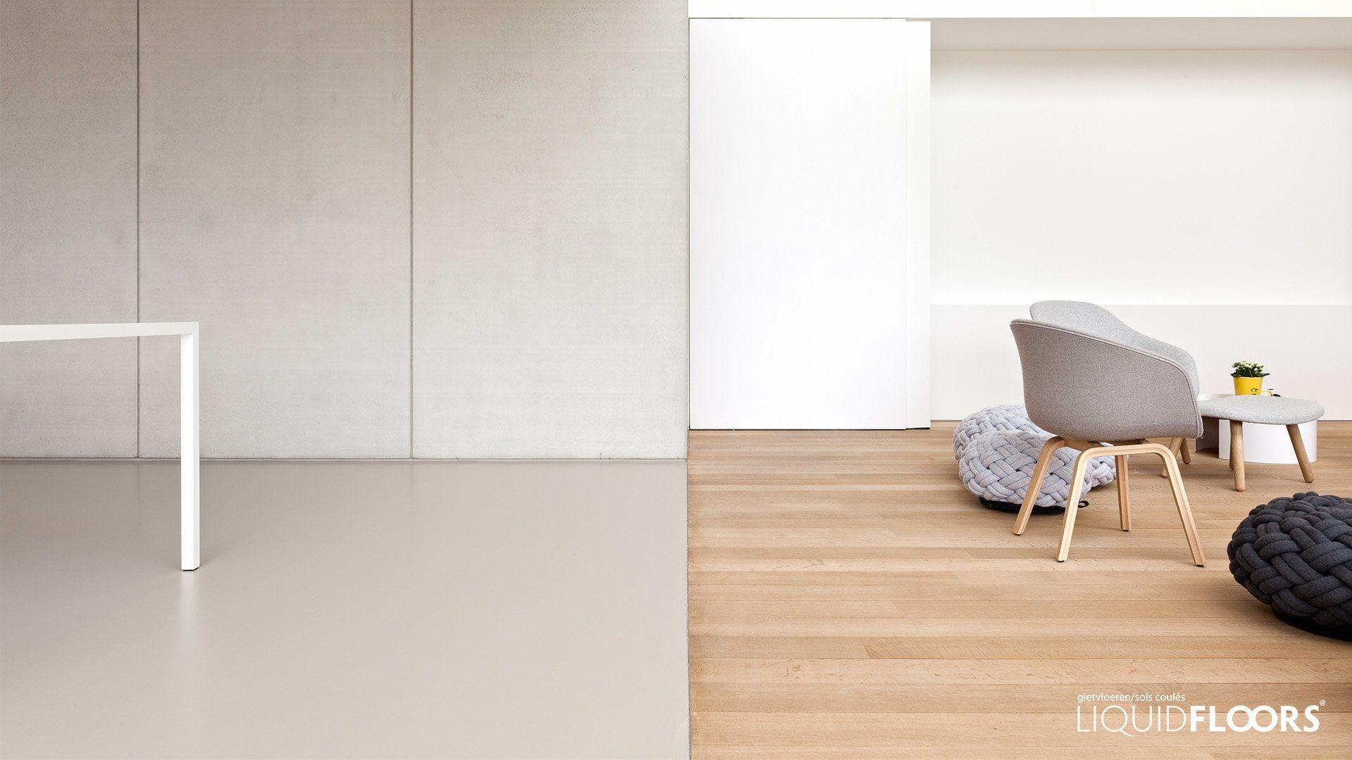Exclusieve Gietvloer Woonkamer : Betonlook inrichting moderne interieurs houten vloer parket en