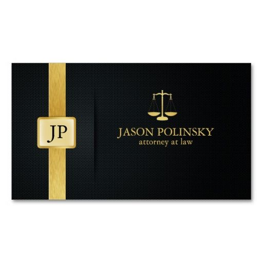 Elegant black and gold attorney at law business card card elegant black and gold attorney at law business card templates make your own business card reheart Images