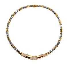 Cartier Diamond and Two-Tone Gold Necklace