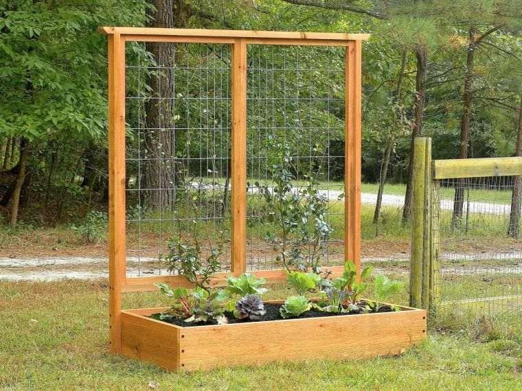 Jardinière Pour Potager En Bois Avec Treillis Pour Plante 400 x 300