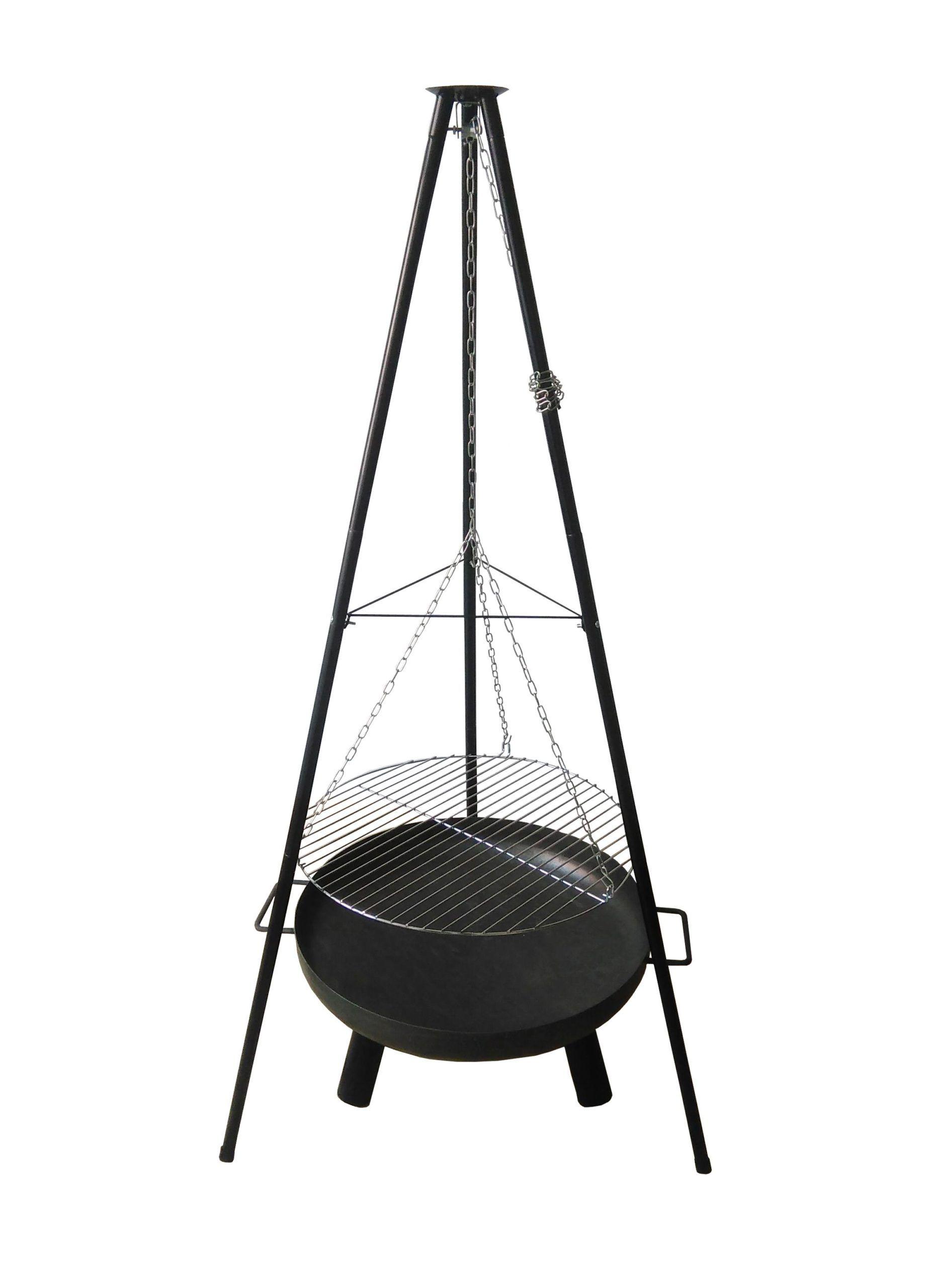 Schwenkgrill Premium mit Feuerschale 60cm Grill Feuerstelle Feuerschale BBQ