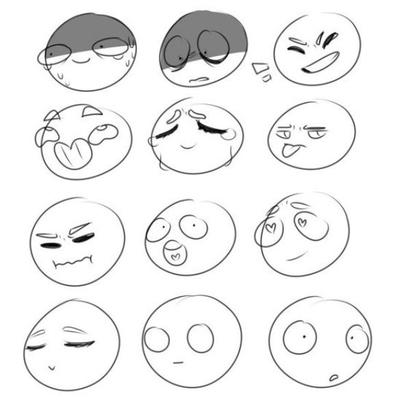 45 Cute And Easy Things To Draw When Bored Buzz Hippy In 2020 Drawing Expressions Drawing Face Expressions Emotion Chart