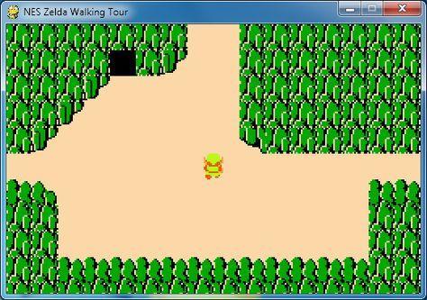 8 bit NES Legend of Zelda Map Data